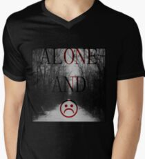 Alone And Unhappy Tee Men's V-Neck T-Shirt