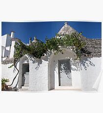Trullo Doors with Grape Vine  Poster