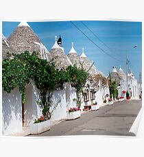 Trullo Street with Grape Vines Poster
