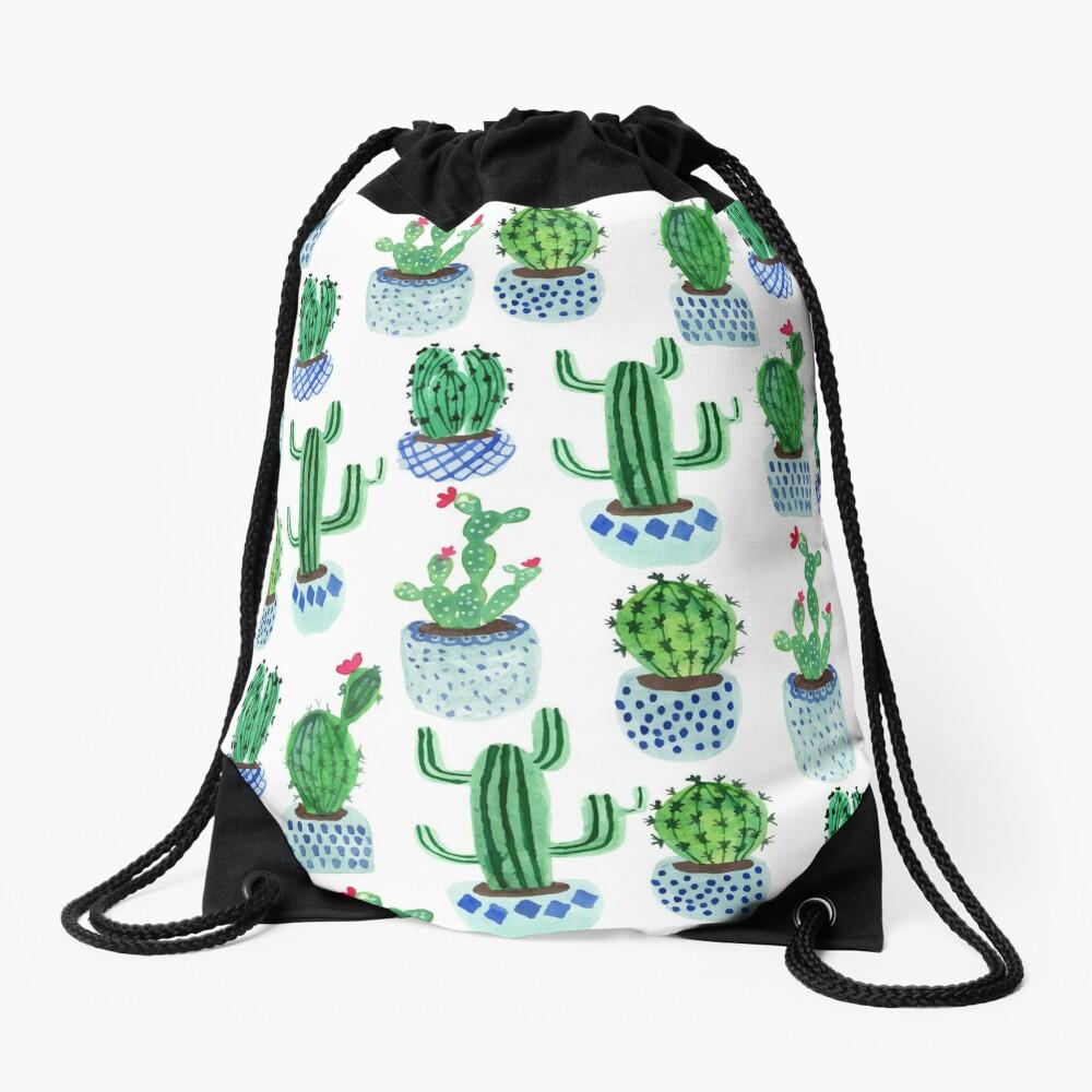 Cactus en acuarela Mochila saco