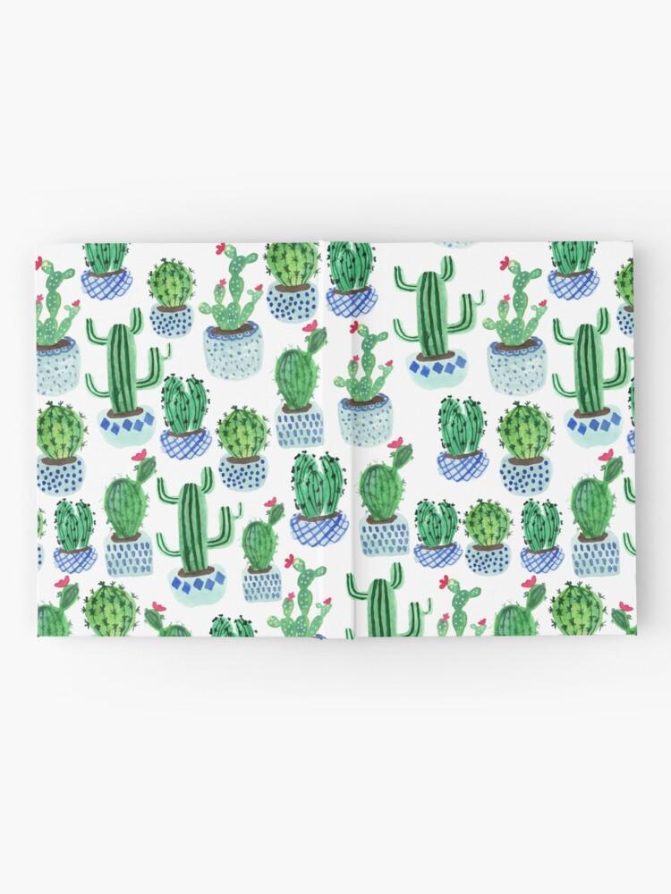 Vista alternativa de Cuaderno de tapa dura Cactus en acuarela