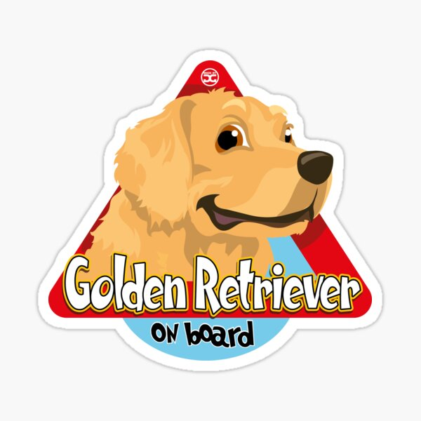 Golden Retriever On Board Sticker