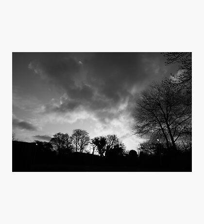 black and white sunrise Photographic Print