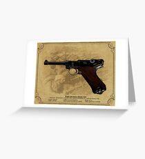Luger Parabellum Pistole 1908 Greeting Card
