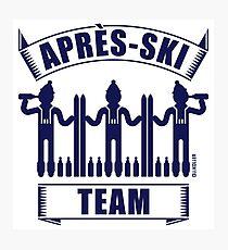 Après-Ski Team (Ski / Party / Beer / Navy) Photographic Print