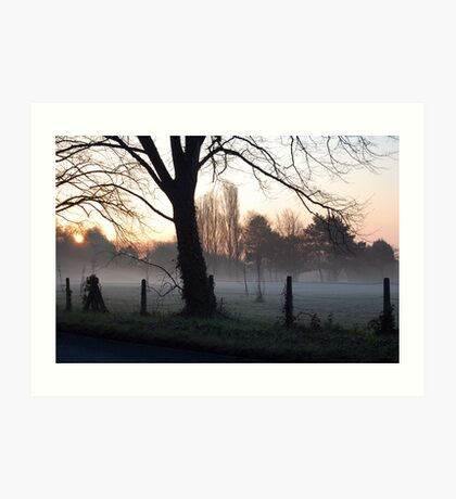 misty morning Art Print