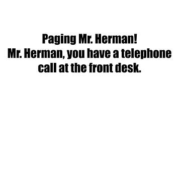 Pee-Wee Herman - Paging Mr Herman - Black Font by GoldStone