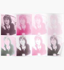 Goruo Pink Yukiko Okada Collage Poster