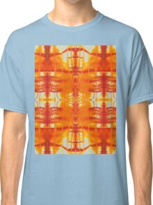 orange and gold watercolor drips Classic T-Shirt