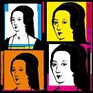 ANNE BOLEYN illustration (Warhol-syle 4-up collage) by Clifford Hayes