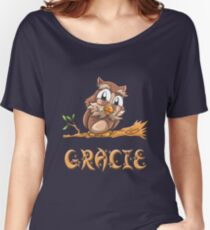 Gracie Owl Women's Relaxed Fit T-Shirt