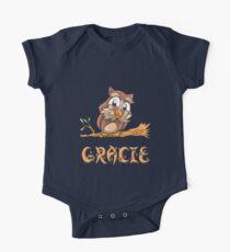 Gracie Owl One Piece - Short Sleeve