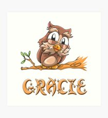 Gracie Owl Art Print