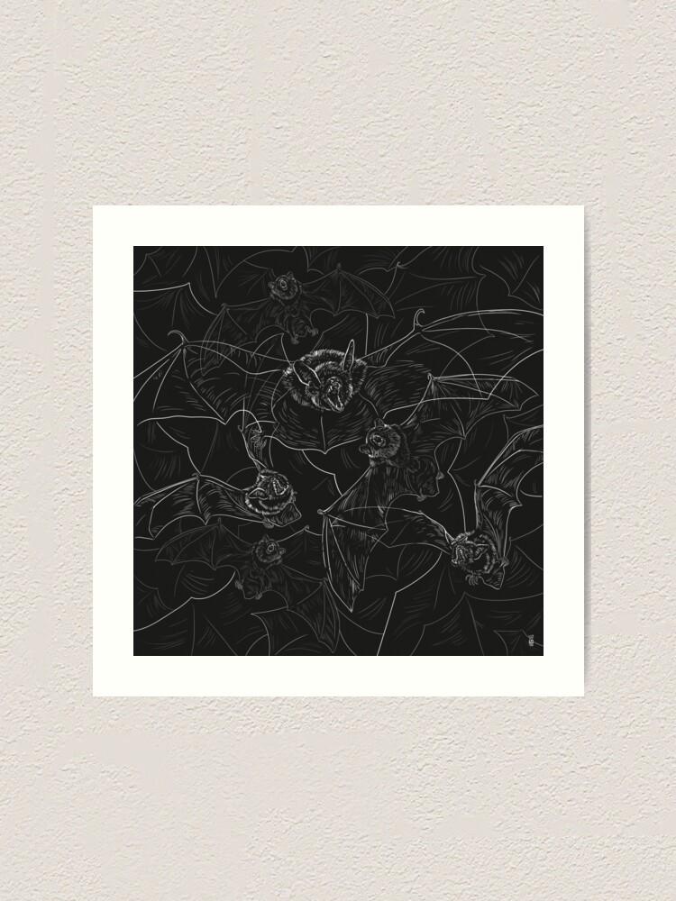 Alternate view of Bat Attack Art Print