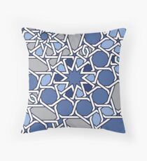 G Vision in Blue Throw Pillow