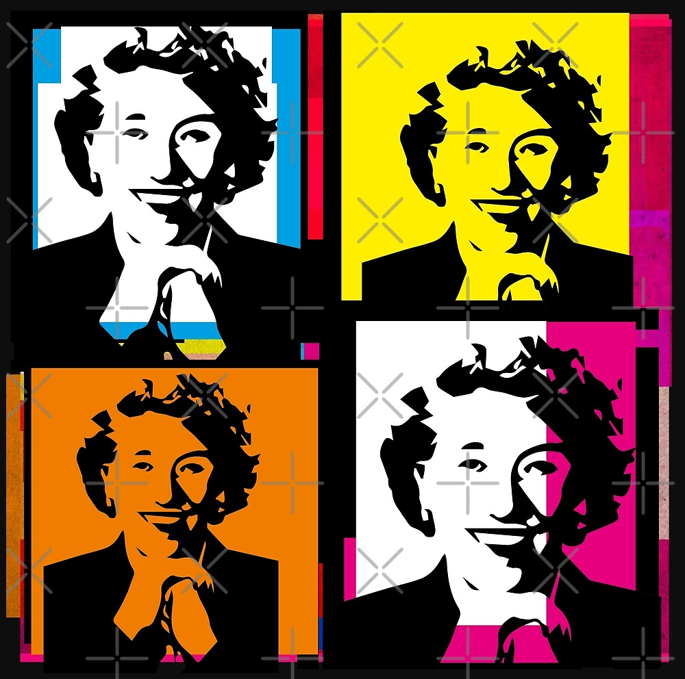 ENID BLYTON (Warhol-style 4-up collage pop illustration) by Clifford Hayes