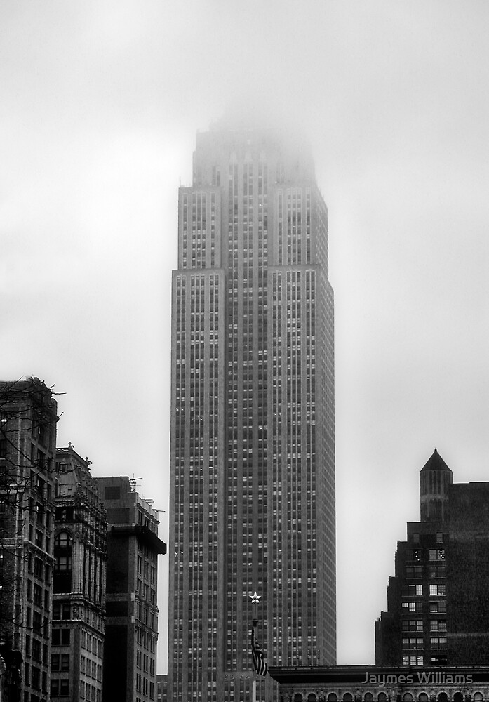 Empire State Building in the Fog by Jaymes Williams