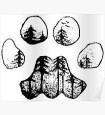 Landscape's Paw Poster