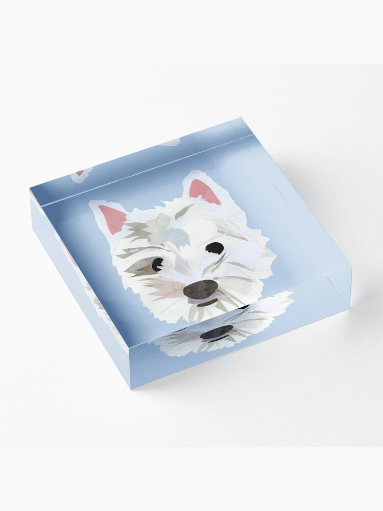 Alternate view of Max the Westie Acrylic Block