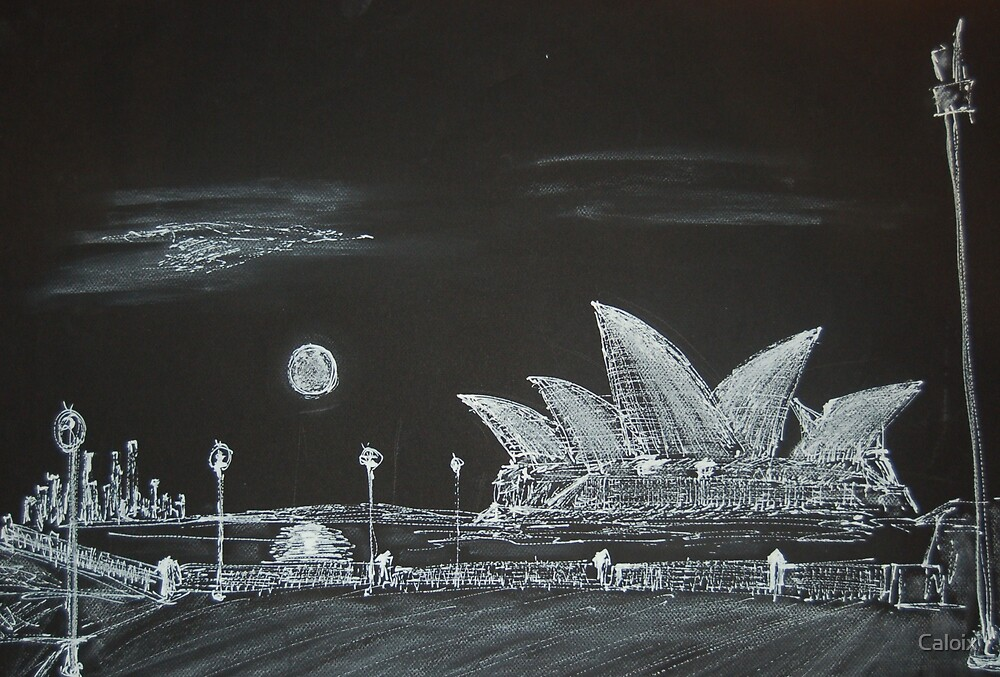 Sydney Opera House at Night by Caloix