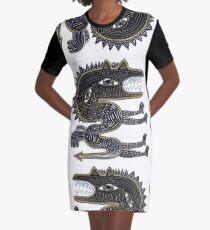 decorative surreal dragon Graphic T-Shirt Dress