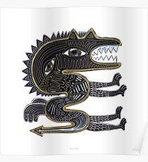 decorative surreal dragon Poster