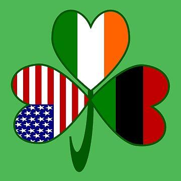 African American Irish American Shamrock by AuntieShoe