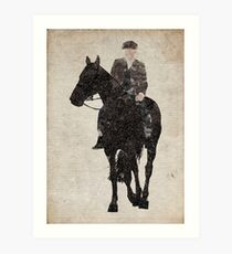 Thomas Shelby (Tommy Shelby) riding a horse Peaky Blinders Art Print