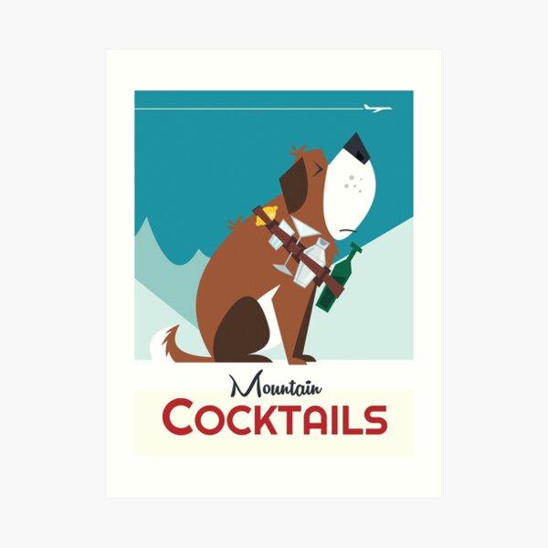 Mountain Cocktails Art Print