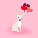 Chihuahua love hearts valentines day cute gifts for chiwawa lovers pet must haves by PetFriendly
