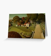 Grant Wood - The Birthplace of Herbert Hoover Greeting Card