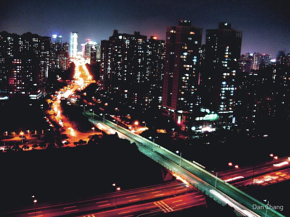 shenzhen city by night by Dan Chang