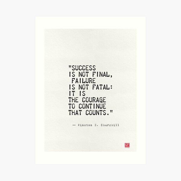 Churchill's quote Art Print
