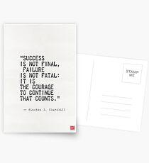 Churchills Zitat Postkarten