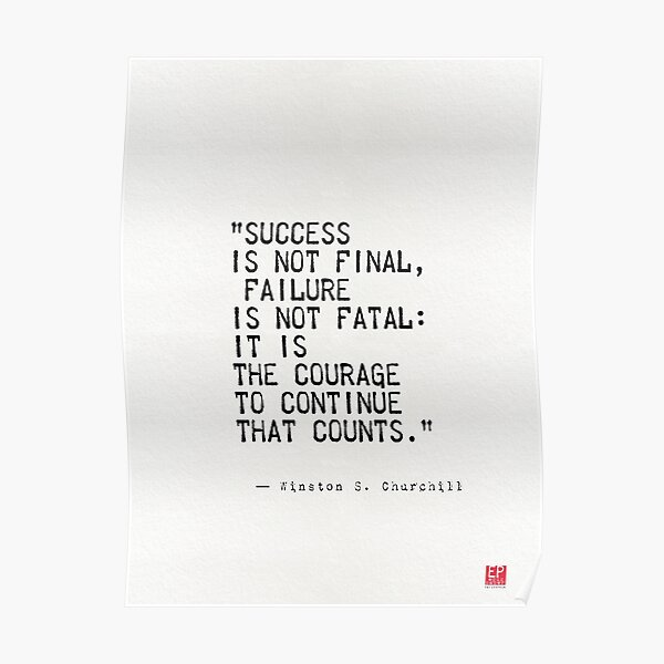 Cita de Churchill Póster