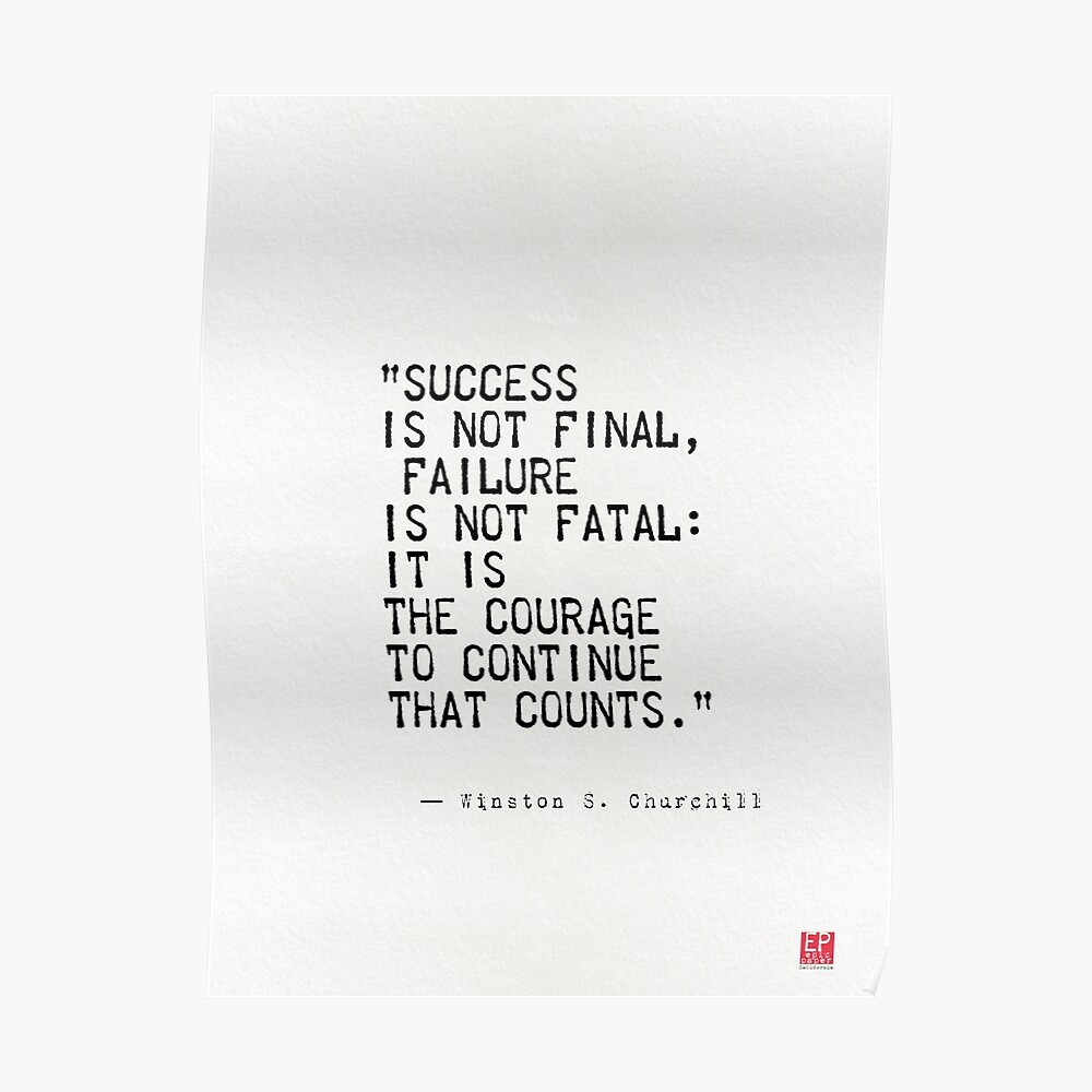 Churchill's quote Poster