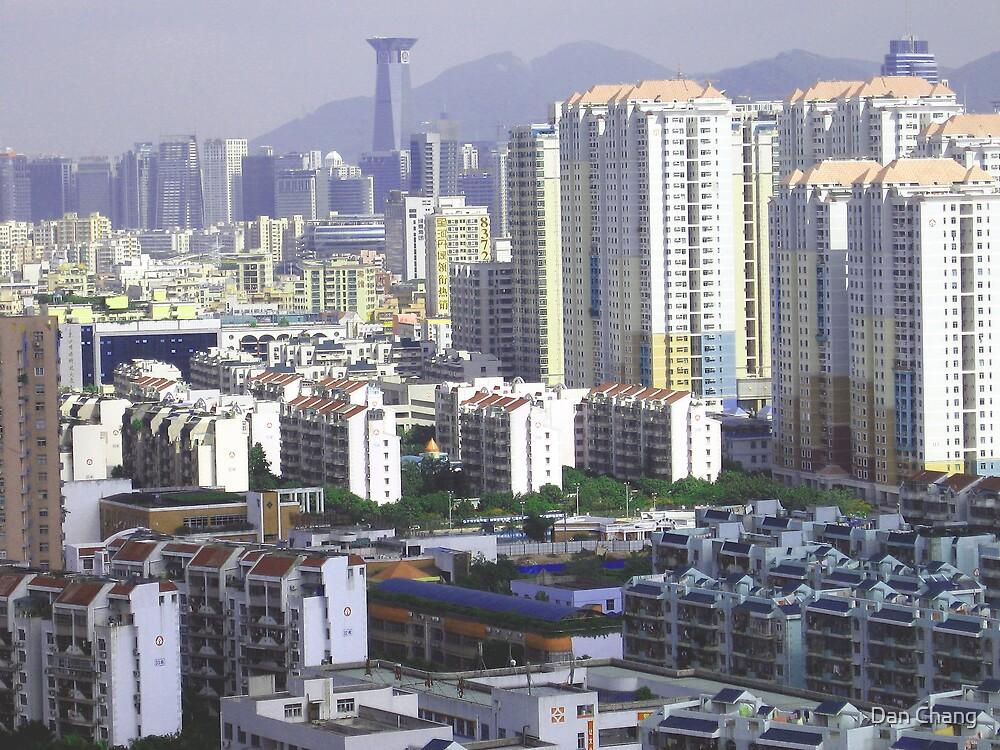 Concrete jungle in Shenzhen City by Dan Chang