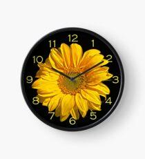 Sonnenblume mit gelben Zahlen Wanduhr Uhr