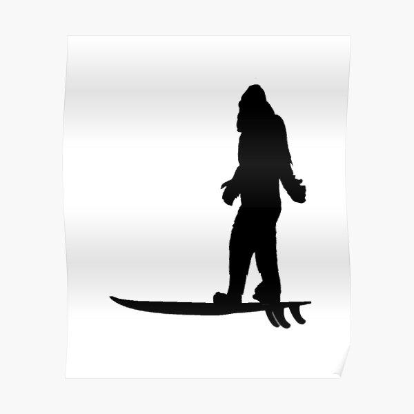 Bigfoot Big Wave Poster