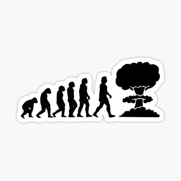 Evolution will ends Sticker