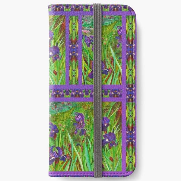 Irises in The Purple  field iPhone Wallet