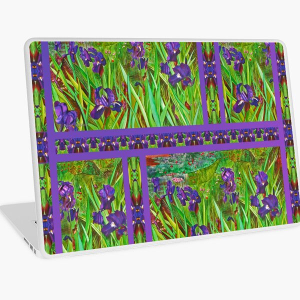 Irises in The Purple  field Laptop Skin