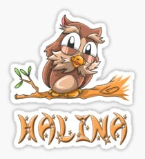 Halina Owl Sticker