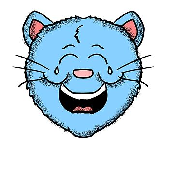 Laughing Cat Head  by Rajee