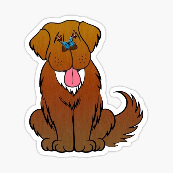 Newfoundland dog and Butterfly Sticker