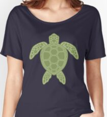 Green Sea Turtle Design Women's Relaxed Fit T-Shirt