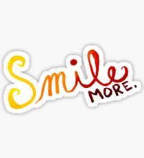Smile More Sticker