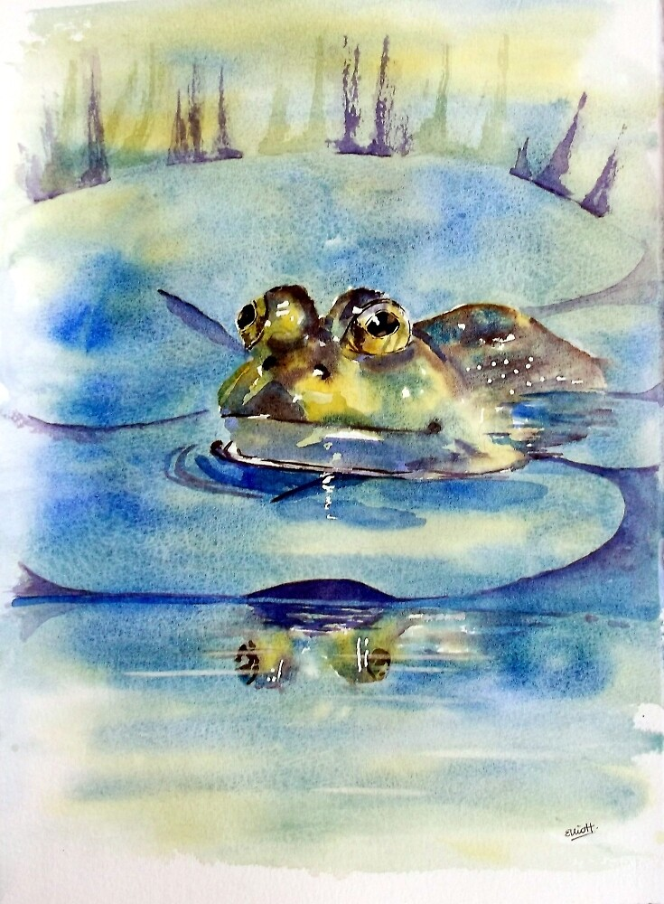Queen of the Lilypad by Pat  Elliott