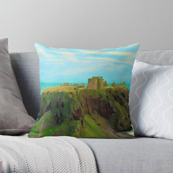 Dunnottar Castle. Scotland Throw Pillow