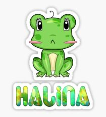 Halina Frog Sticker